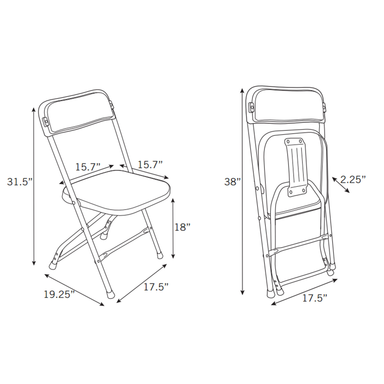 Samsonite 2200 Series Injection Mold Folding Chair Case