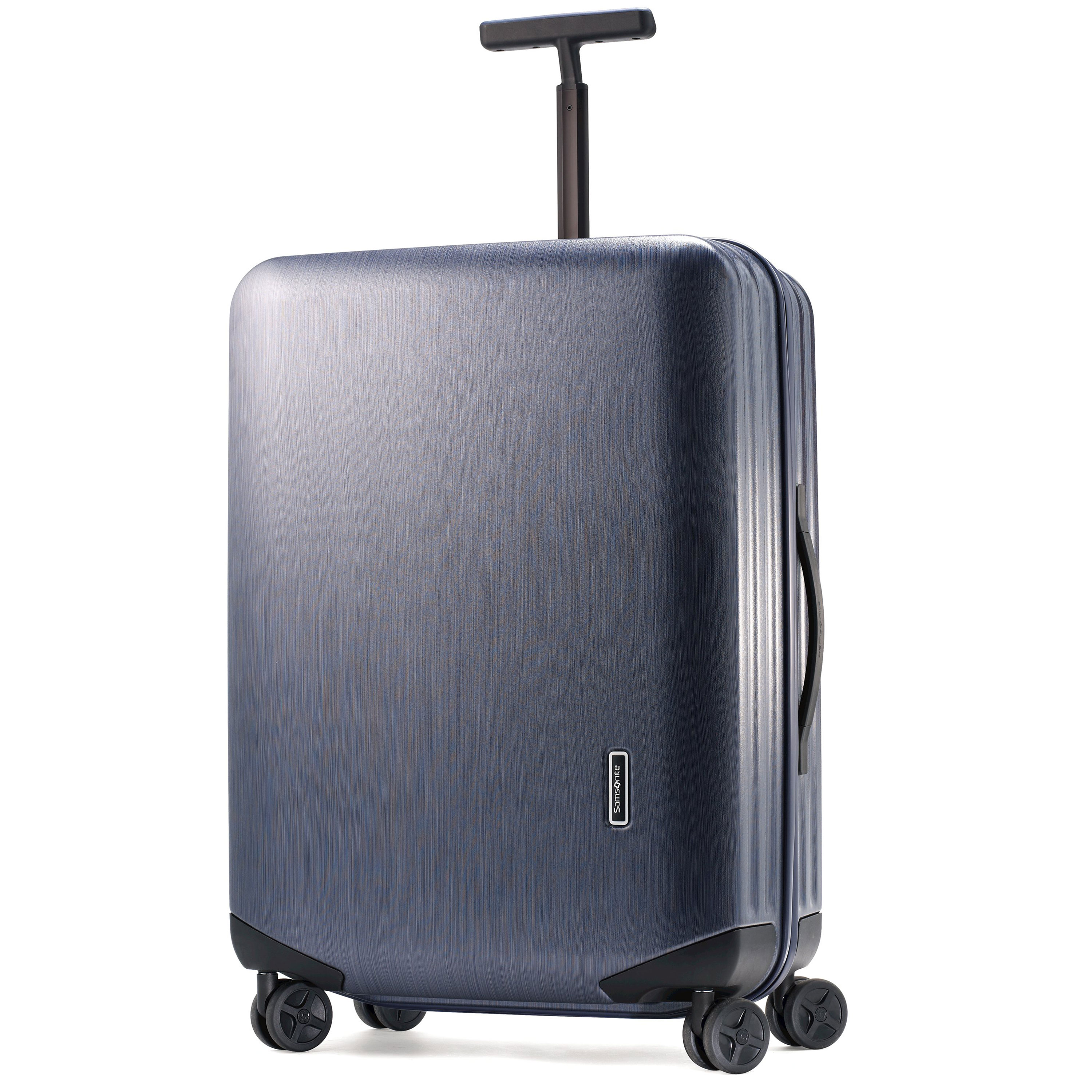 "Discover Samsonite's lightest polycarbonate collection. Inova combines a straightforward, efficient and clean design with outstanding performance. Made of 100% Makrolon polycarbonate, a high-tech material designed for reliability and high impact resistance. The textured shell brushed finish reduces the visibility of scratches. Four easy glide double wheels provide 360 degree easy-pivot mobility. Functional interior with lined divider and cross straps to keep clothes neatly pressed in transit. Flat handles maximize baggage allowances. Integrated three-digit TSA lock for peace of mind. 10 Year Warranty. Weight: 11.44 lbs. Body Dimensions: 30.0"" x 21.25"" x 12.0""Overall Dimensions: 32.0"" x 22.25"" x 13.0"""