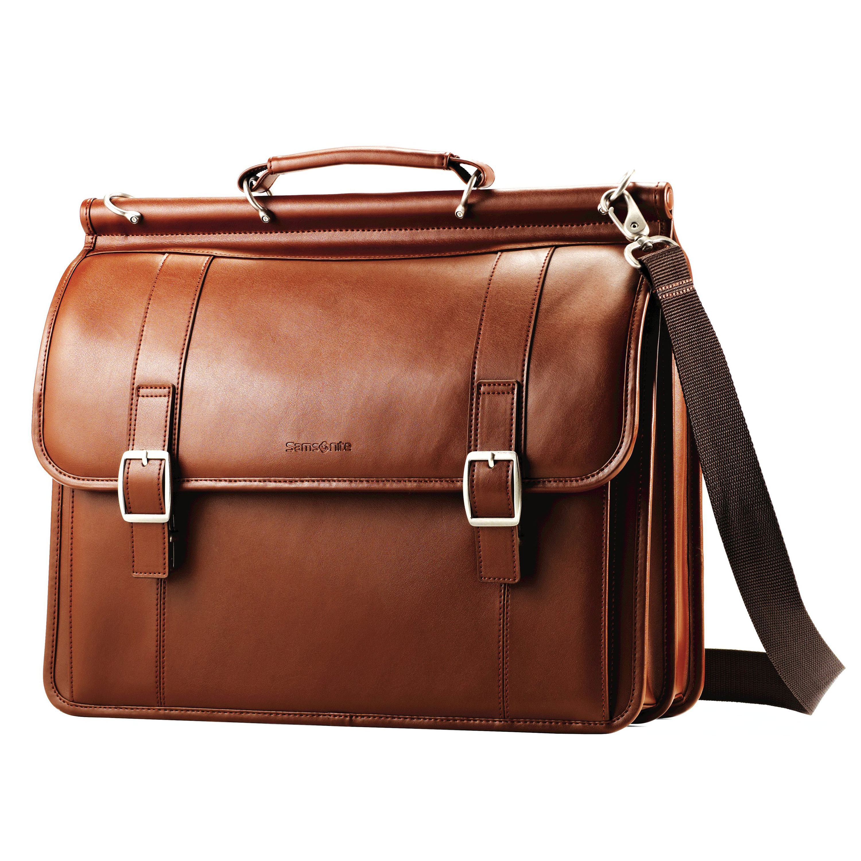A timeless classic that is crafted from genuine leathers. Its a clean professional look that keeps it simple. & #149 Main compartment features a padded laptop compartment. Crafted of genuine leather. Front pocket organization for all of your business needs. Separate pocket for files and business.