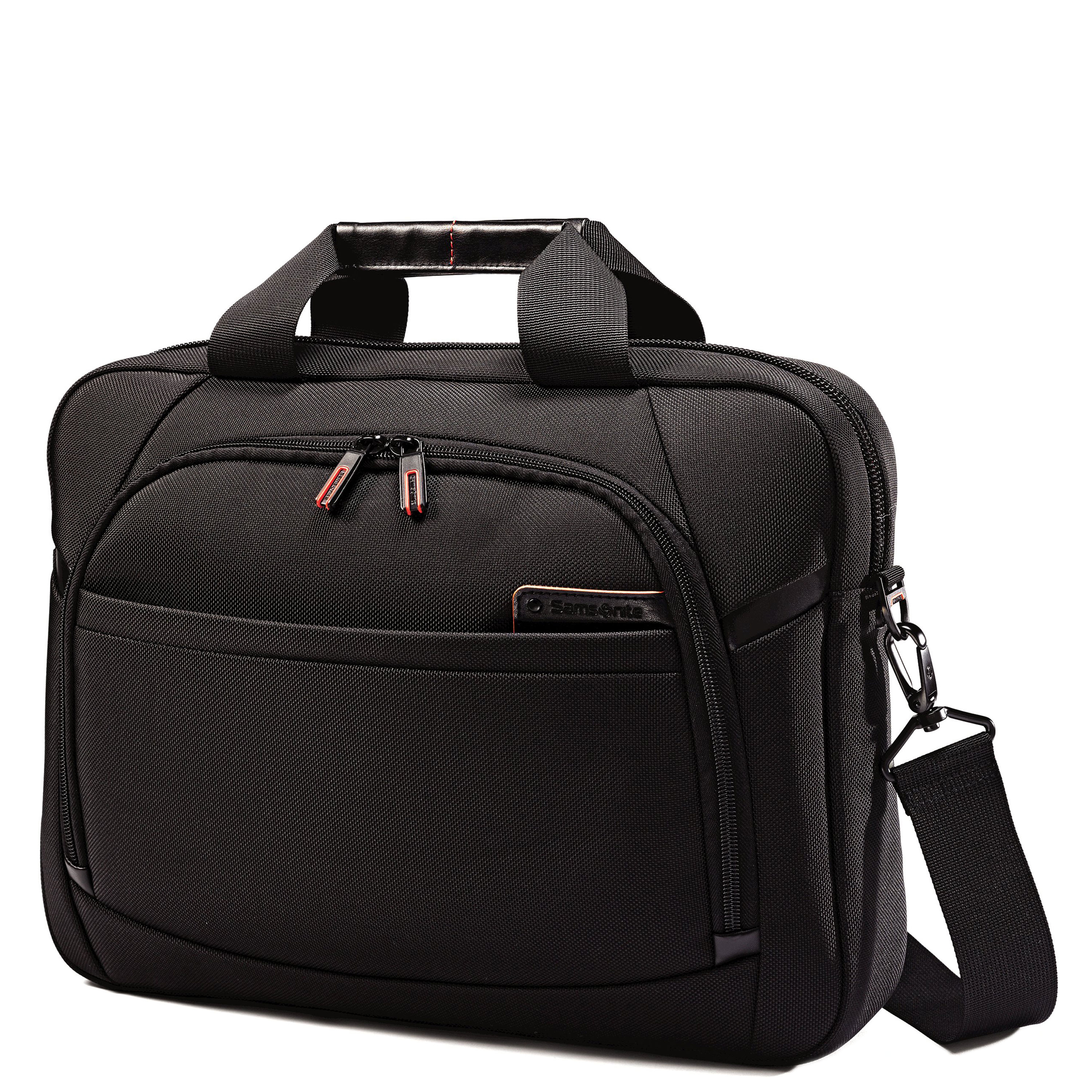 "Fits 15.6"" laptops. Leather touch points. Poron® shock absorbers. Tablet/iPad® pocket. Smart sleeve. Quick stash pocket. Weight: 2.3 lbs. Body Dimensions: 16.25"" x 2.0"" x 2.75"""