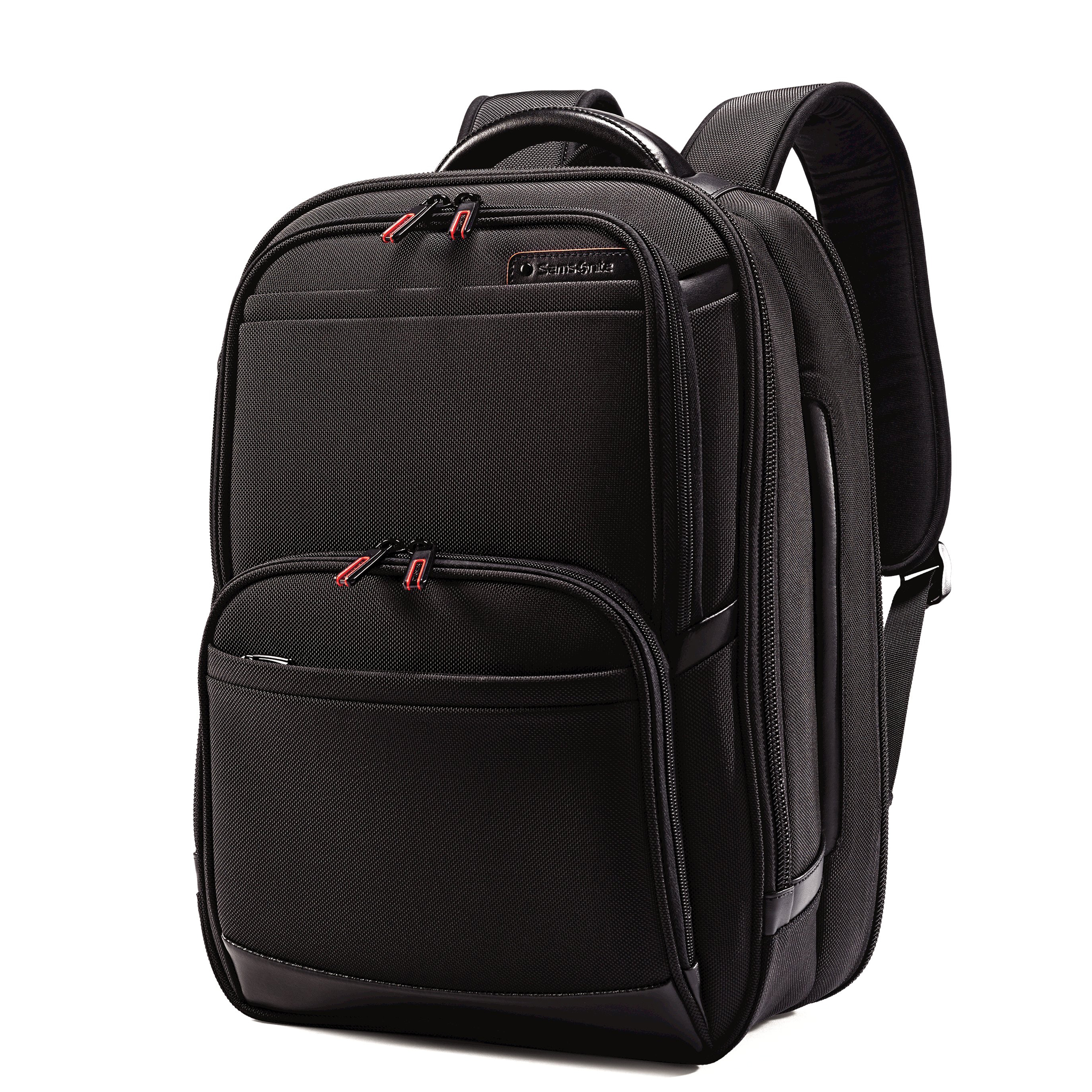 "Compact design. Fits 13""-15.6"" laptops. Leather touch points. Poron® shock absorbers. Perfect Fit adjustable laptop system. Tablet/iPad® pocket. TSA Checkpoint friendly. Smart sleeve. Quick stash pocket. Cord/accessory pouch included. Weight: 3.2 lbs. Body Dimensions: 17.25"" x 12.25"" x 5.5"""