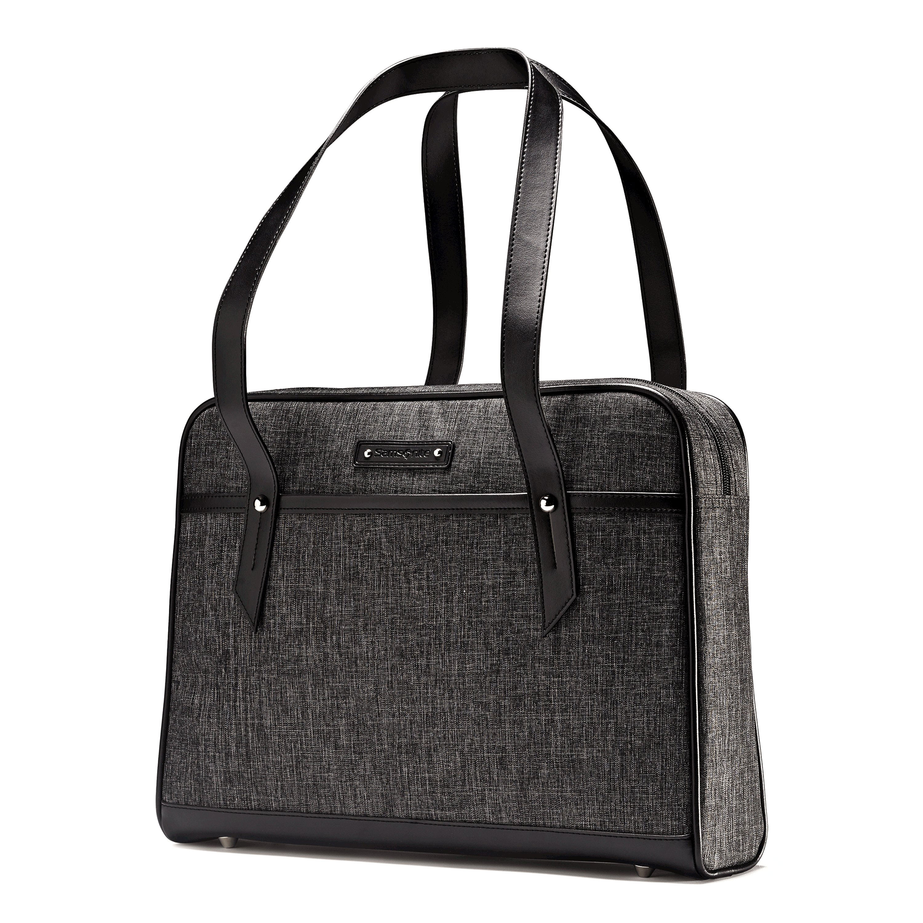 "Padded laptop compartment that will fit most 15.6"" laptops. Tablet pocket. Front quick stash pocket. Strap on back of bag to easily attach to upright suitcase handle. Debossed logo. Comfortable shoulder straps. Weight: 1.1 lbs. Body Dimensions: 16.5"" x 12.0"" x 3.5"""